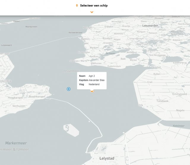 Voorbeeld van de live tracker
